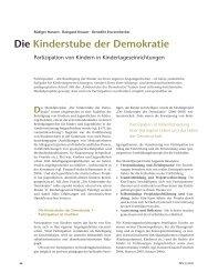 Die Kinderstube der Demokratie - Institut für Partizipation und Bildung