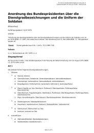 Anordnung des Bundespräsidenten über die ... - Gesetze im Internet