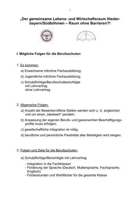 """""""Der gemeinsame Lebens- und Wirtschaftsraum Niederbayern ..."""