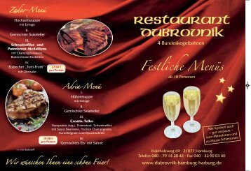 FestkarteDubrovnik neu:Layout 1 - Restaurant Dubrovnik Hamburg ...