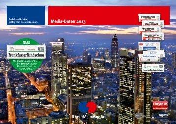 Media-Daten 2013 - Frankfurter Rundschau