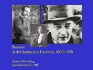 Romane 1900 bis 1950 vom 03. Mai 2011 - Heinrich Detering