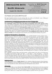 DER KLEINE BOTE Betrifft: Kleinwuchs - BKMF-Österreich
