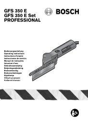 GFS 350 E GFS 350 E Set PROFESSIONAL