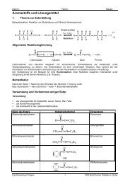 Aromastoffe und Lösungsmittel - Kantonsschule Trogen