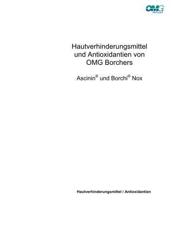 Hautverhinderungsmittel und Antioxidantien von ... - Borchers GmbH