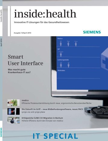 inside:health IT SPECIAL Ausgabe 12 - Siemens Healthcare