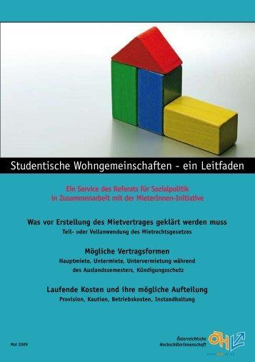 Studentische Wohngemeinschaften - ein Leitfaden - Österreichische ...