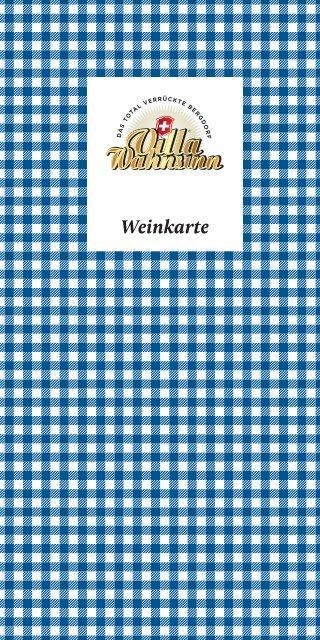 Weinkarte - Villa Wahnsinn