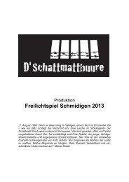 Freilichtspiel Schmidigen 2013