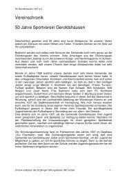 Vereinschronik 50 Jahre Sportverein Geroldshausen - beim SV ...