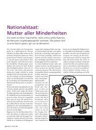 Nationalstaat: Mutter aller Minderheiten - Brennercom