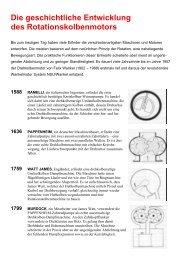 Die geschichtliche Entwicklung des Rotationskolbenmotors