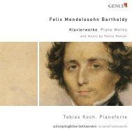 Felix Mendelssohn Bartholdy Tobias Koch, Pianoforte