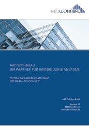 ABD Wohnbau Broschüre - ABD Wohnbau GmbH