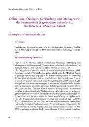 Verbreitung, Ökologie, Gefährdung und Management des ...