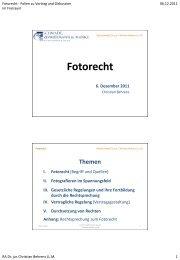 """Folien zum Vortrag """"Fotorecht"""" (06.12.2011)"""