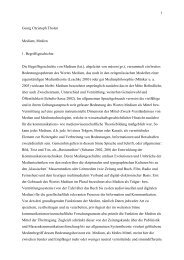 1 Georg Christoph Tholen Medium, Medien 1 ... - Xcult.org