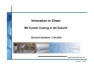 Innovation in Cham mit dem Curtain Coater, Bernardo Semadeni