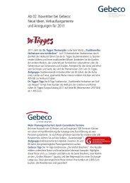 Ab 02. November bei Gebeco: Neue Ideen, Verkaufsargumente und ...