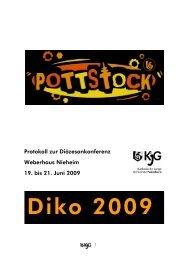 Protokoll zur Diözesankonferenz 2009 - KJG Diözesanverband ...