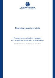 Protocolo de avaliação e cuidados no transplante intestinal e ...