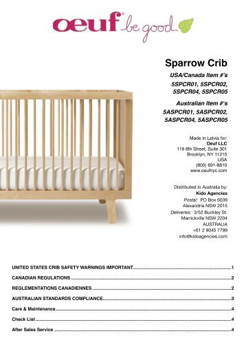 sparrow crib oeuf - Oeuf Sparrow Crib