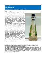 Viskoelastizität - Pharmazie-Lehrbuch