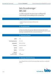 Technisches Datenblatt BR 240 - Bito AG