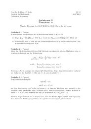 13. Übungsblatt - Mathematik - Universität Regensburg