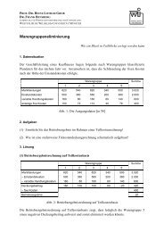 Warengruppeneliminierung - Westfälische Wilhelms-Universität ...