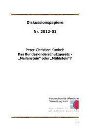 Diskussionspapiere Nr. 2012-01 Peter-Christian ... - Hochschule Kehl