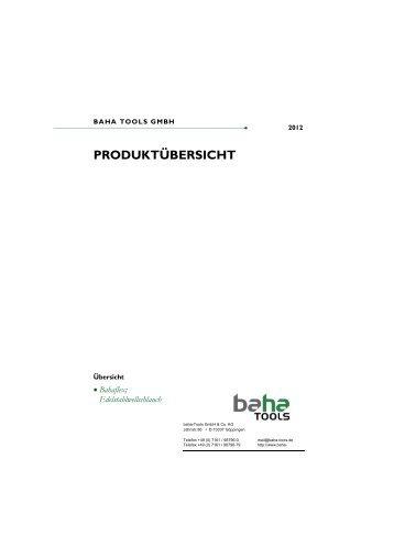 PRODUKTÜBERSICHT - Baha Tools