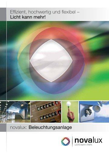novalux: Beleuchtungsanlage Effizient, hochwertig und flexibel ...