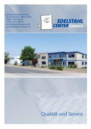 Lieferprogramm 2012 - Edelstahlcenter-Garbsen
