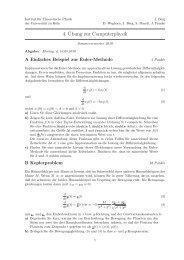 4.¨Ubung zur Computerphysik - Universität zu Köln