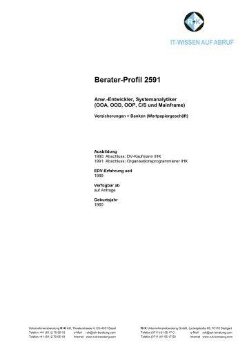 Berater-Profil 2591 - R+K Unternehmensberatung GmbH