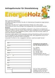 Anfrageformular für Dienstleistung - AfL Niedersachsen eV