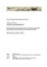 Prof. Dr. Reinhard Brühl (Generalmajor a.D.) Vortrag zum Thema ...