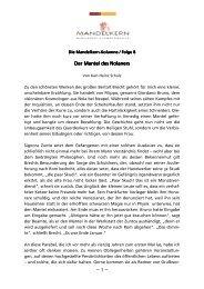 Der Der Mantel Mantel des des Nolaners Nolaners Nolaners ~ 1 ~