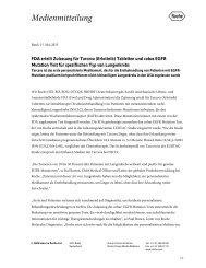 FDA erteilt Zulassung für Tarceva (Erlotinib) Tabletten und ... - Roche
