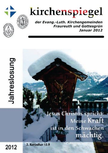Kirchenspiegel Januar 2012 - Evang.-Luth. Kirchengemeinde ...