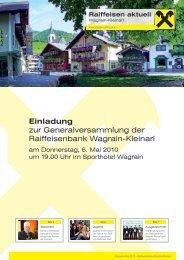Kundenzeitung Mai 2010 - Raiffeisen Wagrain
