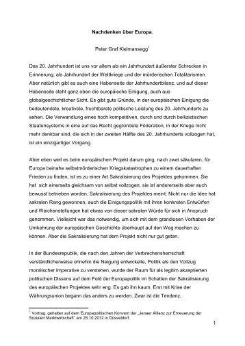Nachdenken über Europa - Open Europe Berlin