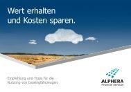 Wert erhalten und Kosten sparen. - ALPHERA Financial Services
