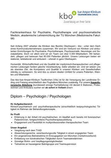 Diplom – Psychologin / Psychologen