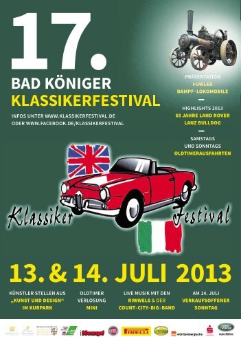 Präsentation & Starterliste mit Bild - Bad Königer Klassikerfestival