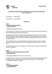 Landkreis Göppingen Kurzprotokoll Kurzprotokoll über die Sitzung ...