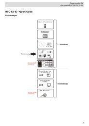 Xtender Fernsteuerung RCC-02/03 Kurzübersicht