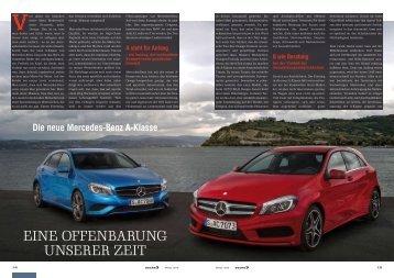 Eine Offenbarung unserer Zeit – Die neue Mercedes-Benz A-Klasse